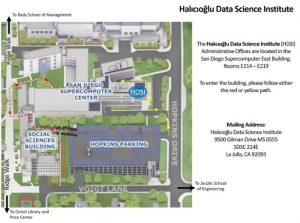 North Campus Map Leading to HDSI