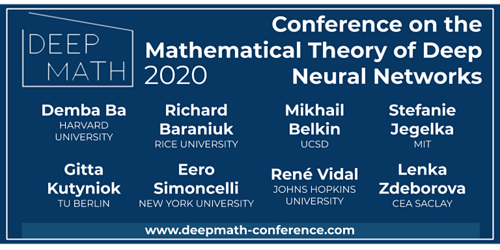 flyer with graphic image for Deep Math conference 2020 Nov 5