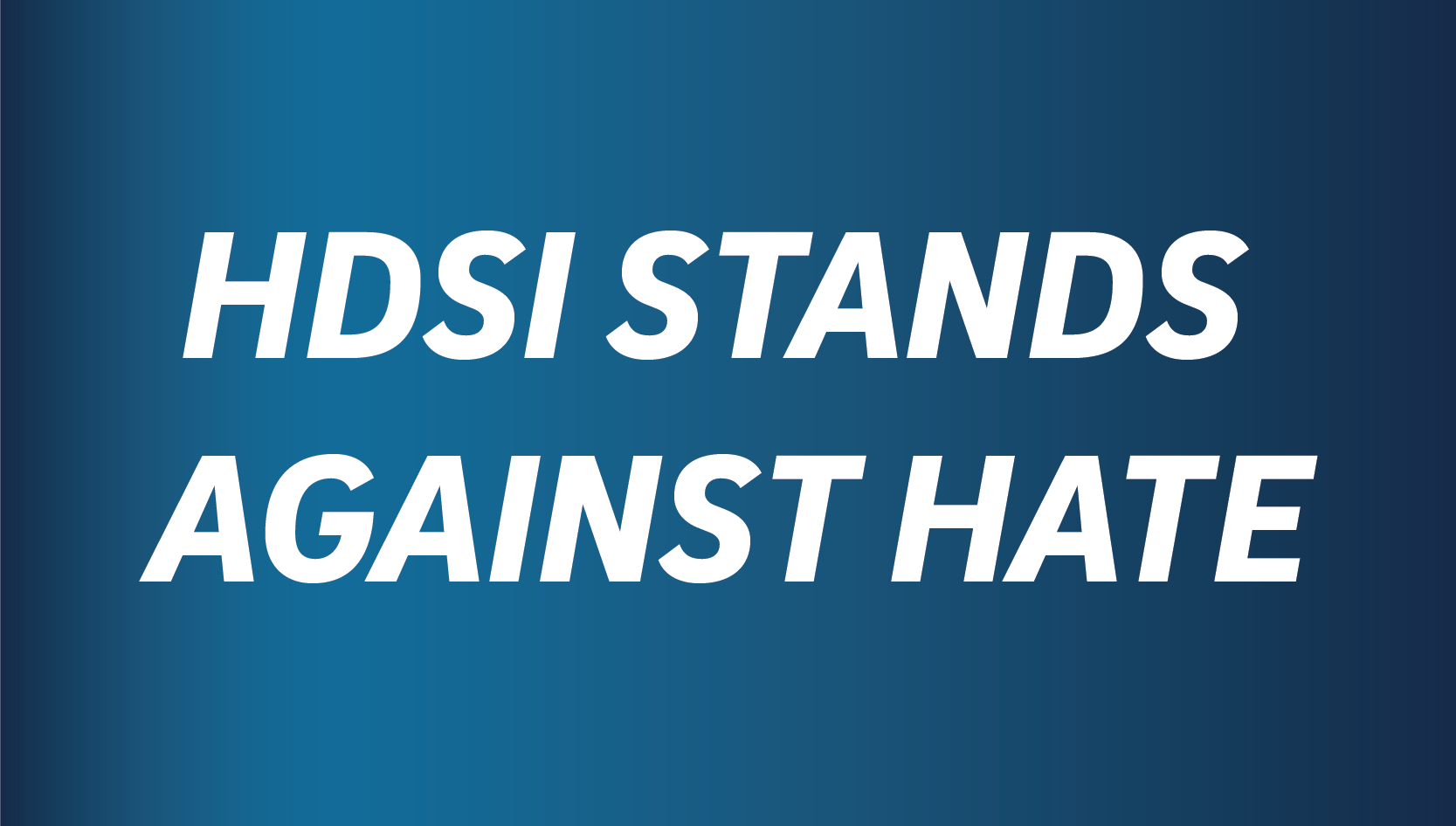HDSI UCSD Stands Against Hate